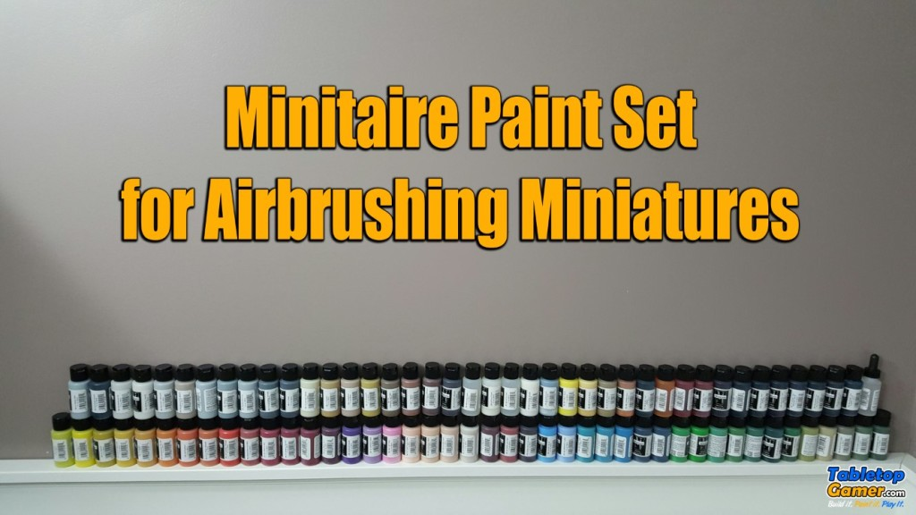 Minitaire Paint Set for Airbrushing Miniatures